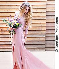 多汁, 花束, 新娘, 藏品, 婚禮, 花