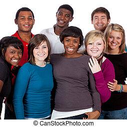 多种族, 大学生, 在怀特上