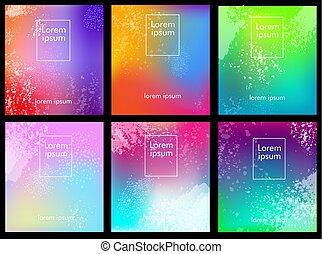 多种顏色, 集合, 背景, 摘要, 坡度