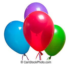 多色刷り, お祝い, 風船, rgb, 空気