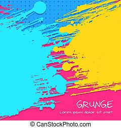 多色刷り, ベクトル, グランジ, 背景