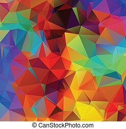 多色刷り, 幾何学的, 背景