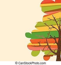 多色刷り, 木, 背景