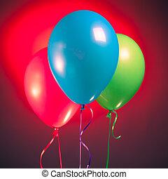 多色刷り, 風船, rgb, お祝い