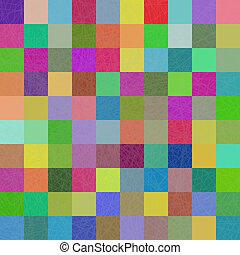多色, 正方形, モザイク, 背景