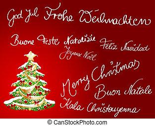 多言語である, クリスマスカード