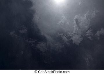 多雲, 夜晚