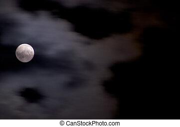 多雲, 滿月