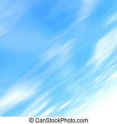 多雲, 藍色的天空