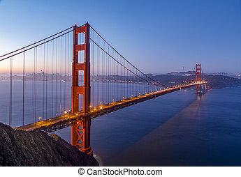 夜明け, san フランシスコ湾