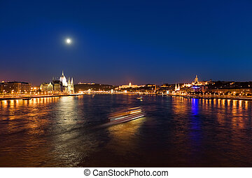 夜晚, 布達佩斯, 全景