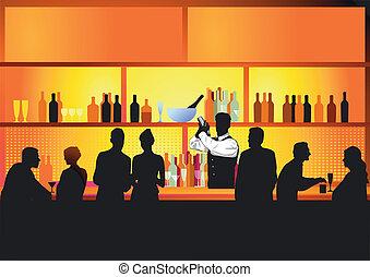 夜晚, 酒吧