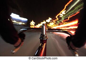 夜, サイクリング