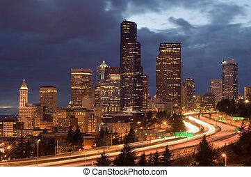 夜, シアトル