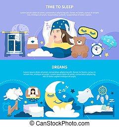 夜, ポスター, 2, 夢, 平ら