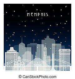 夜, 冬, memphis.