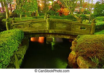 夜, 日本の庭
