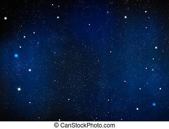 夜, 背景, 星が多い
