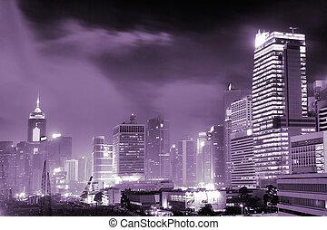 夜, 超高層ビル, 現場