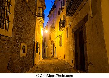 夜, 通り, villafames