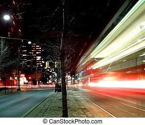 夜, 都市現場