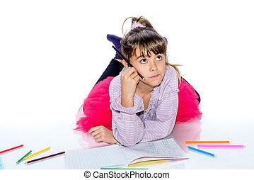 夢のようである, 女の子, ∥で∥, 鉛筆