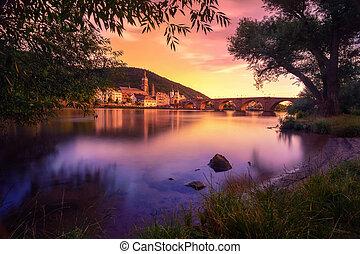 夢のようである, heidelberg, 日没, ドイツ