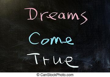 夢想, 來, 真實