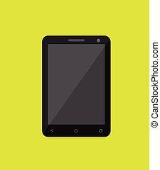大きいスクリーン, ベクトル, smartphone