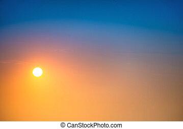 大きい空, 日没, 太陽