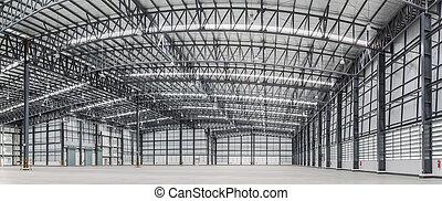 大きい, いくつか, 商品, 現代, 倉庫