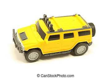 大きい, おもちゃ, 離れて, トラック, 道