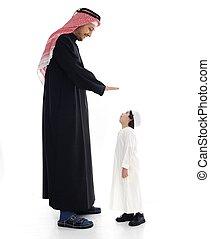 大きい, アラビア, 父, 小さい, 息子