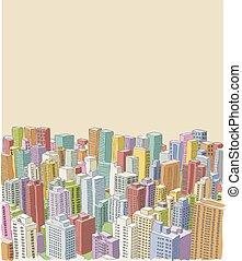 大きい, カラフルである, 都市, 風景