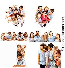 大きい, グループ, 若い人々