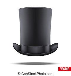 大きい, シリンダー, 紳士, 帽子, 黒