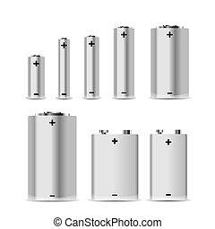 大きい, セット, アルカリ, 別, 白, 電池