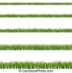 大きい, セット, 草, 緑