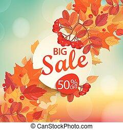 大きい, セール, -, 秋, バックグラウンド。
