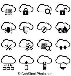 大きい, データ, 雲, 計算