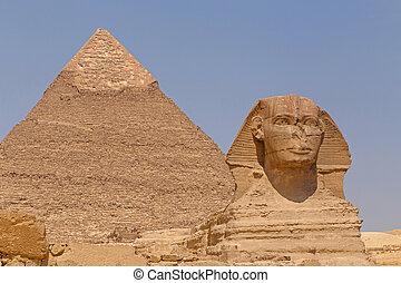 大きい ピラミッド, スフィンクス, khafre