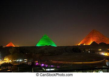 大きい ピラミッド, 夜