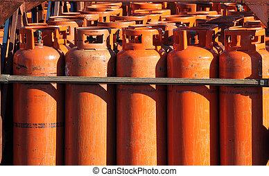 大きい, プロパン, ガス, びん, ∥において∥, ∥, 結め換え品, 駅