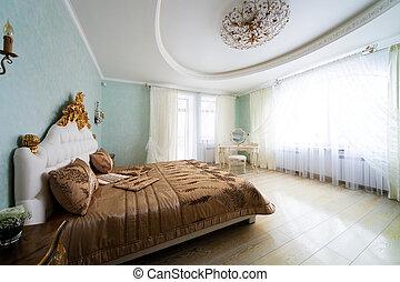 大きい, ベッド, すてきである