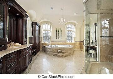大きい, マスター, 浴室