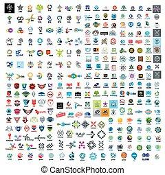 大きい, ロゴ, セット, 技術, ベクトル