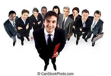 大きい, 人々。, グループ, ビジネス