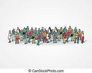 大きい, 人々。, グループ