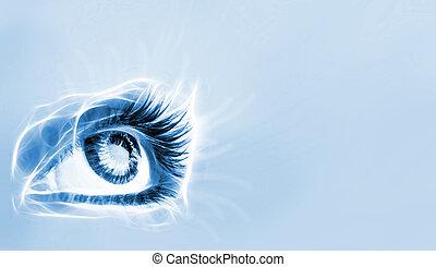 大きい, 偉人, eye.