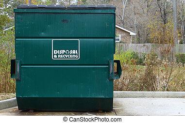 大きい, 処分, 緑, recyclin